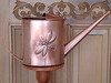 Dragonfly watering can fabricated from copper sheet.