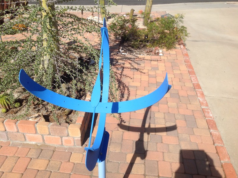 Steel sundial.