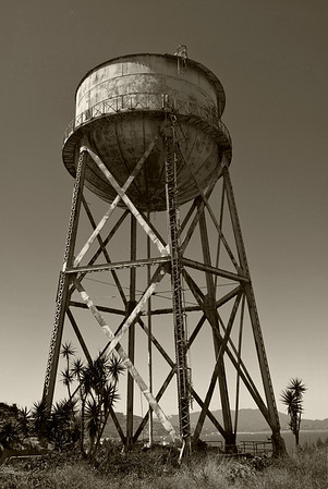 Alcatraz water tower