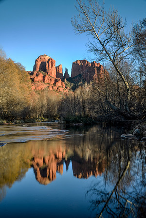 Sedona, AZ, took this in the river with some heavy neutral density filters and a long exposure to get a better reflection off the water.