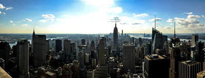 Panno off the top of 30 Rock in NYC
