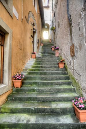 Barga back street, Tuscany