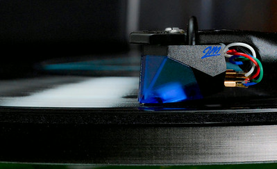 Ortofon 2M Blue, on my Rega P3-24.  It was a nice paring.