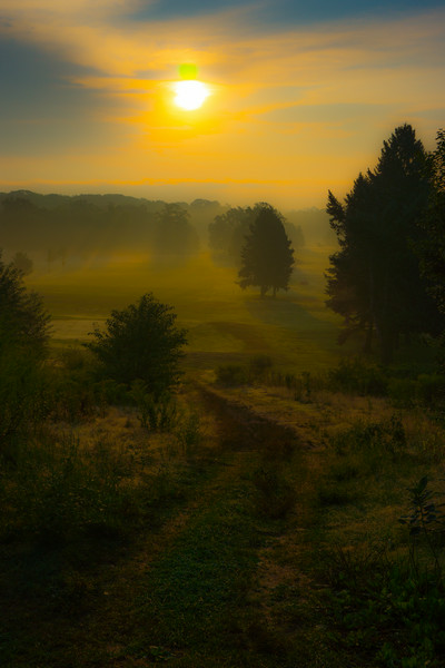 Sunrise Over Misty Valley, by David Everett