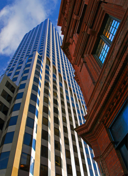 New and Old, the Goodwin with City Place, by David Everett