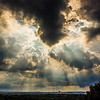 Light Rays Through Thunderheads, by David Everett