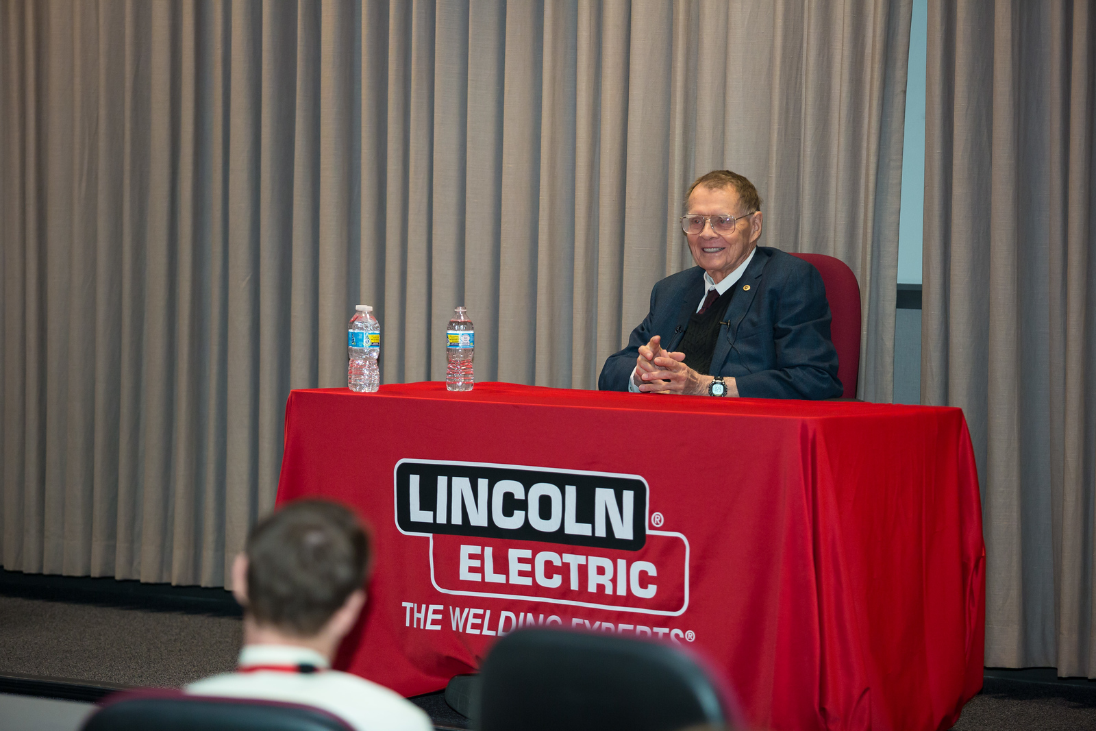 David C. Lincoln visit, April 19, 2017