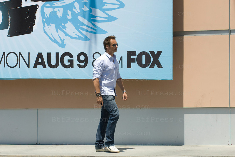 EXCLUSIVE- David Hallyday in the 20th Century Fox Studios in Century City and in his trailer for his filming in Los Angeles California on July 28,2010