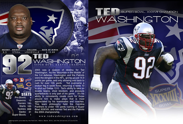 TED WASHINGTON AUTOGRAPH CARD | design by David Klotz