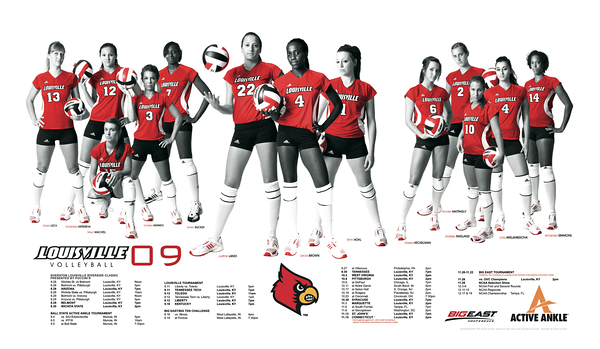 2009 - LOUISVILLE VOLLEYBALL POSTER   design and photography by David Klotz