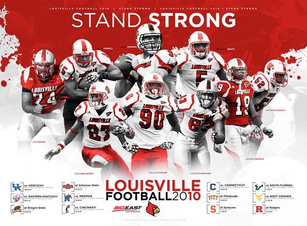 2010 - LOUISVILLE FOOTBALL POSTER | design and photography by David Klotz