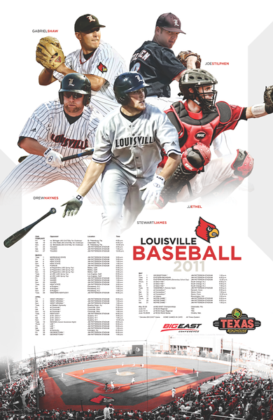 2011 - LOUISVILLE BASEBALL POSTER | design by David Klotz