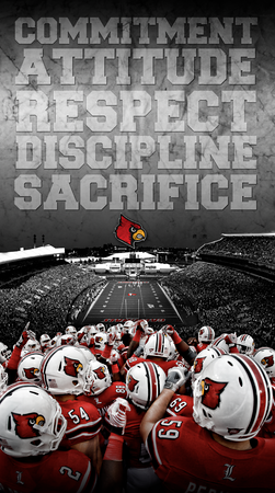 2012 - LOUISVILLE FOOTBALL GRAPHIC | design and photography by David Klotz