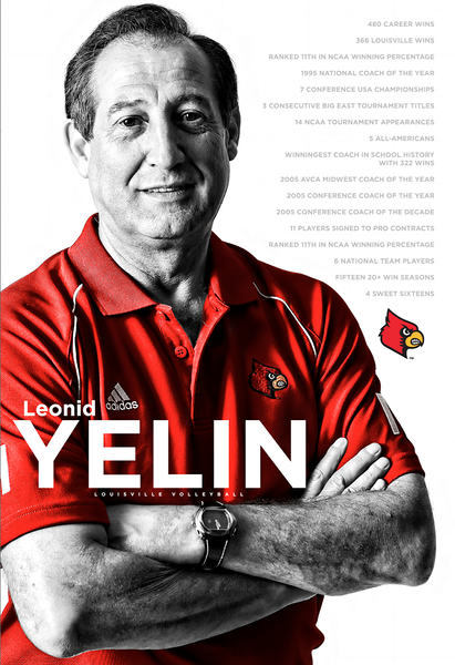 LOUISVILLE VOLLEYBALL GRAPHIC | design and photography by David Klotz