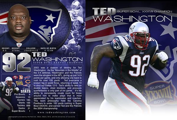TED WASHINGTON AUTOGRAPH CARD | design by David Klotz