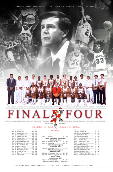 LOUISVILLE BASKETBALL COMMEMORATIVE POSTER | design by David Klotz