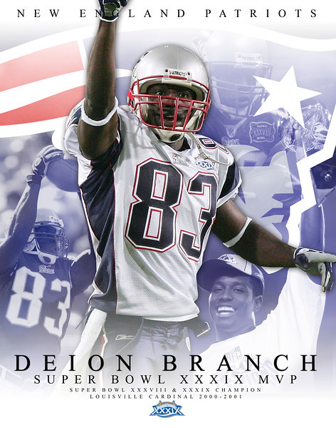 DEION BRANCH SUPER BOWL MVP POSTER | design by David Klotz