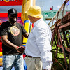 Red Sox slugger David Ortiz thanks maze designer Adrian Fisher during the opening of the 'Big Papi Maze' at Davis Mega Maze on Tuesday morning. SENTINEL & ENTERPRISE / Ashley Green