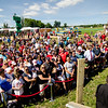 A large crowd of fans awaits the arrival of David Ortiz for the opening of the 'Big Papi Maze' at Davis Mega Maze on Tuesday morning. SENTINEL & ENTERPRISE / Ashley Green