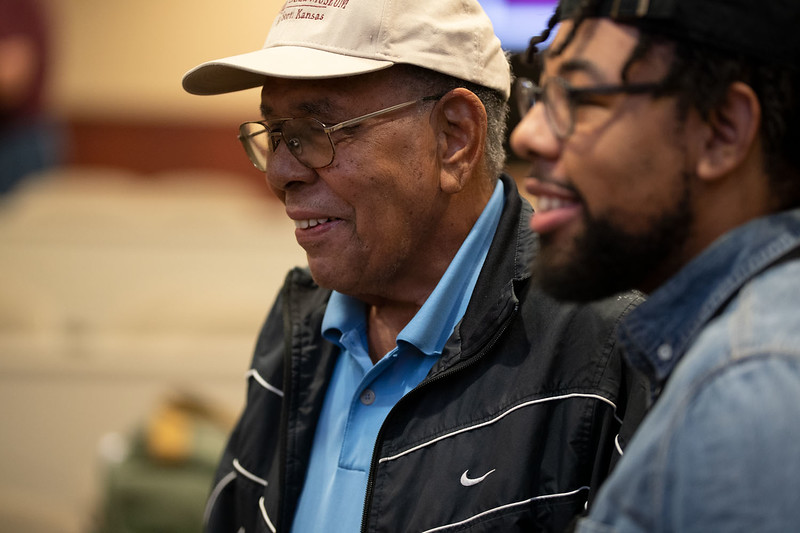 David Park reflects on his father, Gordon Parks photography career. Sept 26, 2019, (Dylan Connell  | Collegian Media Group)