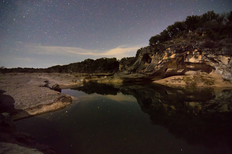 Pedernales Falls at Night