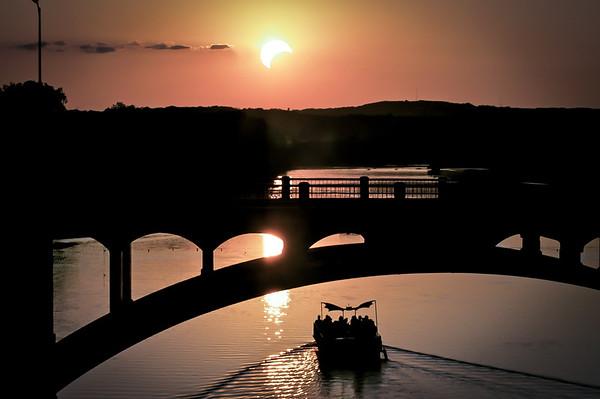 Solar Eclipse w/ bat boat