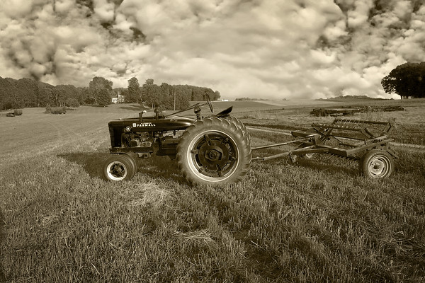Tractor on Kane Farm - Eldersburg, Maryland