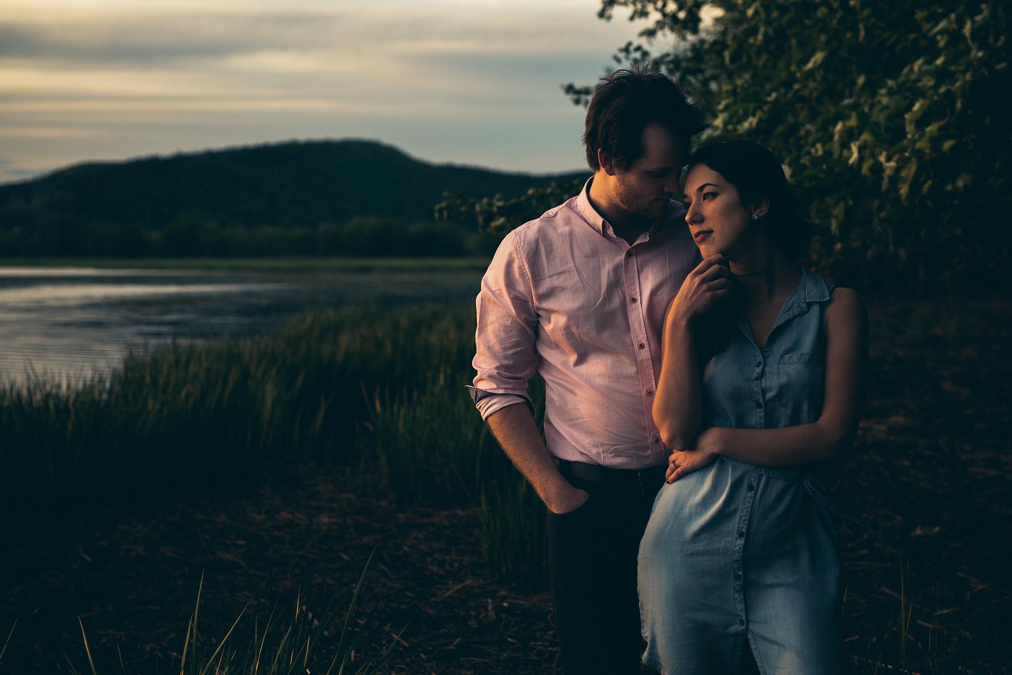 David and Shannon elegant couples portrait