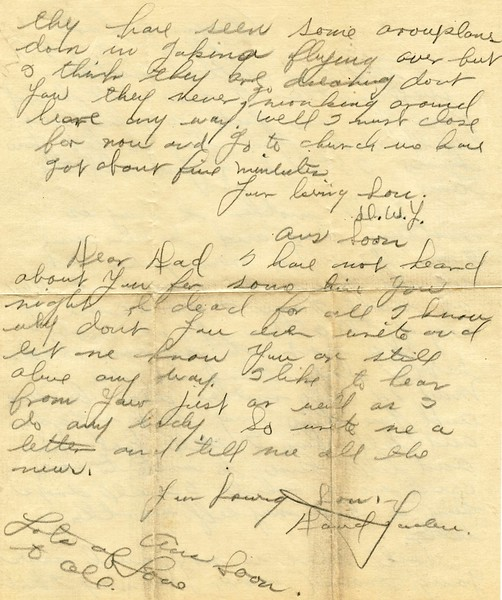 Letter Archive 1917 (5) - Yaden, William David - Age 17 - May 13, 1917 - Page 2 of 2 - American Lake Camp Lewis, WA - Letters from a Doughboy WWI Series - Original Documents