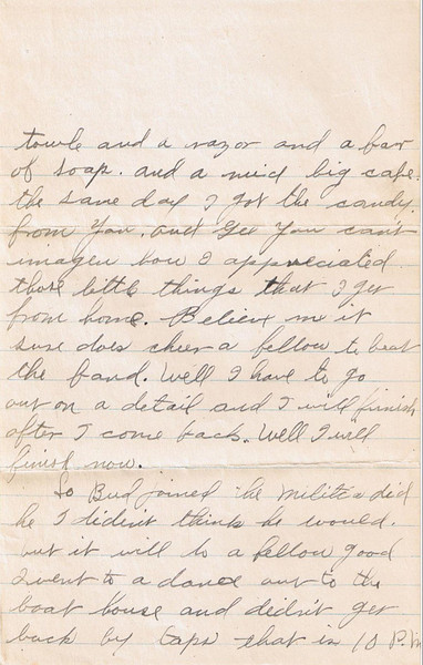 Letter Archive 1917 (4) - Yaden, William David - Age 17 - April 18, 1917 - Page 2 of 3 - American Lake Camp Lewis, WA - Letters from a Doughboy WWI Series - Original Documents