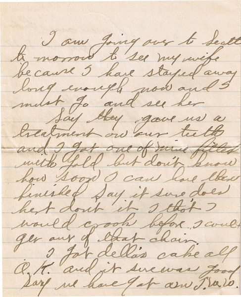 Letter Archive 1917 (6) - Yaden, William David - Age 17 - June 8, 1917 - Page 2 of 4 - American Lake Camp Lewis, WA - Letters from a Doughboy WWI Series - Original Documents