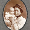 "Elizabeth (Yaden) Bolman - 1901 - Age 24 - Holding her son Robert William Bolman (age 3 months) - Elizabeth was the 1st child of David & Hilie Yaden - Robert would die in 1925 at the age of 24 - Photo taken in Hagerman, ID<br /> <br /> Born:  January 7, 1877 in London, KY<br /> Died:  December 26, 1956 in Yakima, WA (age 79)<br /> Married:  September 1900 to William J. Bolman<br /> <br /> Note from Betty Yaden:  <br /> <br /> ""Aunt Betty was always a kind, friendly person. She was the mother of Martha Nevitt, the artist of the family.  I remember Bud saying that his first memories of his oldest sister was at her wedding. Dave and I appreciated very much that when Susan had to have her life saving operation both Aunt Betty and Aunt Jane sent us $100 dollars to help with expenses."""