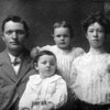 The Vredenburgh Family - 1907 - Shoshone, ID<br /> <br /> L to R:<br /> <br /> William David Vredenburgh (1872-1957) - Age 35 - Nickname:  Bill<br /> Darrell Vredenburgh (1905-1910) - Age 2 - Died on June 29, 1910<br /> Merlyn Cassie Vredenburgh (1903-1994) - Age 3 <br /> Janice (Yaden) Vredenburgh (1884-1981) - Age 23 - Nickname:  Jane