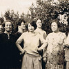 The Yaden Girls - 1926 - During a family gathering at the South Tenth Street home of David & Hilie Yaden (across from the Yakima fairgrounds) - Yakima, WA<br /> <br /> L to R:<br /> <br /> Minnie Melvina (Yaden) Ferris - Age 38 (1888-1979) - Nickname: Minn<br /> Hilie (Chestnut) Yaden - Age 68 (1858-1948)<br /> Hilie Della (Yaden) Rhodes - Age 40 (1886-1976) - Nickname: Dell<br /> Ella Pearl (Yaden) Kunkelly - Age 32 (1894-1965) - Nickname: Paula<br /> Janice (Yaden) Vredenburgh - Age 42 (1884-1981) - Nickname: Jane<br /> Elizabeth (Yaden) Bolman - Age 49 (1877-1956) - Nickname: Betty<br /> Lily Gertrude (Yaden) Fulk - Age 36 (1890-1969) - Nickname: Gert