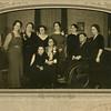 Hilie Yaden (sitting center) with Children - 1932 - Yakima, WA - Photo courtesy of Scot Ferris/Oak Hill, VA (Scot is the grandson of Minn [Yaden] Ferris)<br /> <br /> Standing Left to Right:<br /> <br /> Minnie Melvina (Yaden) Ferris - Age 44 (1888-1979) - Nickname:  Minn<br /> Lily Gertrude (Yaden) Fulk - Age 42 (1890-1969) - Nickname:  Gert<br /> Elizabeth (Yaden) Bolman - Age 55 (1877-1956) - Nickname:  Betty<br /> Janice (Yaden) Vredenburgh - Age 48 (1884-1981) - Nickname:  Jane<br /> Hilie Della (Yaden) Sorsoleil - Age 45 (1886-1976) - Nickname:  Dell<br /> Edna (Maxwell) Yaden - Age 37 (1894-1955) - Wife of Bud Yaden<br /> <br /> Sitting Left to Right:<br /> <br /> Ella Pearl (Yaden) Barteaux - Age 37 (1894-1965) - Nickname:  Paula<br /> Hilie (Chestnut) Yaden - Age 73 (1858-1948)<br /> Byron William Yaden - Age 35 (1897-1975) - Nickname:  Bud