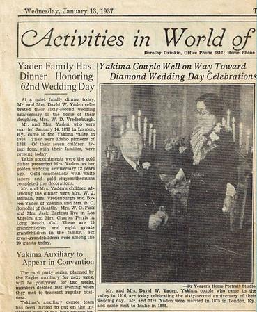 David and Hilie Photos 1937