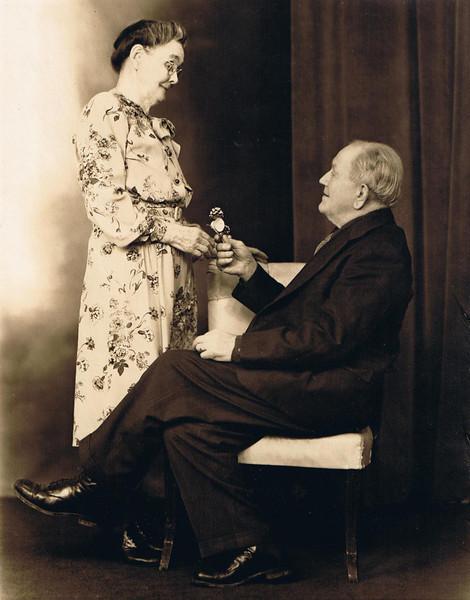 Hilie & David Yaden - 1941 - Yakima, WA<br /> <br /> Hilie (Chestnut) Yaden - Age 83 (1858-1948)<br /> David William Yaden - Age 86 (1855-1949)