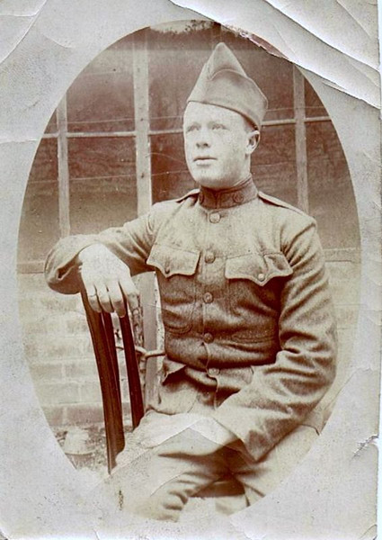 """William David Yaden - 1917 - Age 17 - Known by middle name """"David"""" or by nickname """"Pug"""" - United States Army  WWI - American Lake Camp Lewis - Tacoma, WA - (W. David Yaden was born on September 2, 1899 and was killed in action in the Argonne Forest of France on October 5, 1918)"""