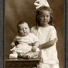 Boyd & Roberta Ferris - circa 1919 - Children of Charles & Minnie (Yaden) Ferris - Grandchildren of David & Hilie Yaden - Idaho<br /> <br /> Boyd Ferris (1919-1999) - About age 6 mos<br /> Roberta Ferris (1914-2008) - About age 5