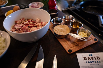 Making Bacon Jam with David Mimeles at Blue Cashew in Kingston, NY.