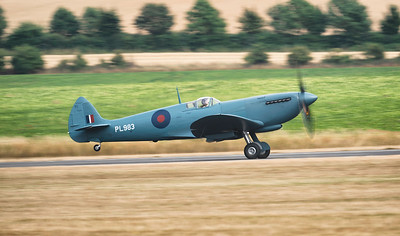 Supermarine Spitfire PRXI PL983 (G-PRXI) Heading out at Flying Legends Airshow 2018 By David Stoddart