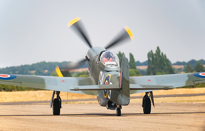 North American P-51D Mustang (G-SHWN) The Shark Taxiing out at Flying Legends Airshow 2018 By David Stoddart