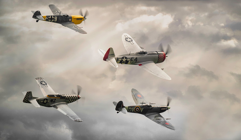 The Fighter Display at Duxford Flying Legends Airshow 2019  By David Stoddart