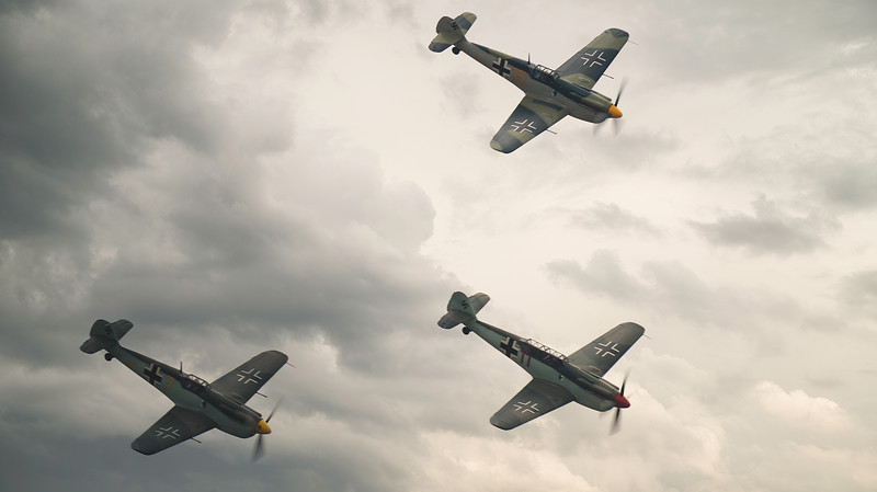 The Buchon Squadron at Duxford Flying Legends 2019  By David Stoddart