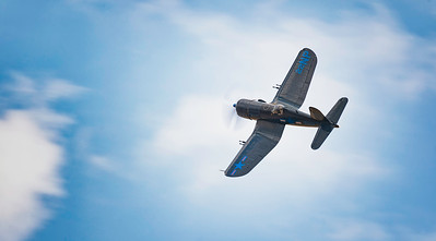 Vought Corsair F4U-5N (F-AZEG) in Blue skies at Flying Legends Airshow 2018    By David Stoddart
