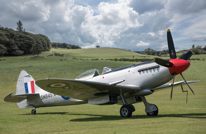Supermarine Spitfire Mkviii. SM845. By David Stoddart.