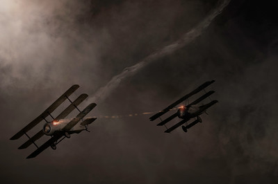 """""""Dogfight at Dusk"""" By David Stoddart"""