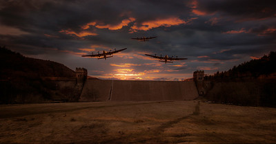 The Dambusters at Dawn - My Composite By David Stoddart
