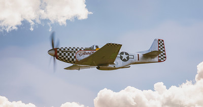 North American TF51D Mustang Contrary Mary (G-TFSI) In Blue skies at Flying Legends Airshow 2018  By David Stoddart