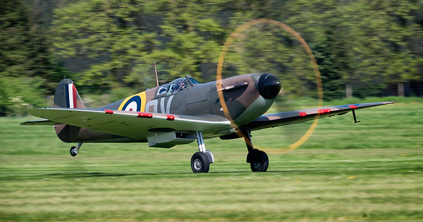 "Supermarine Spitfire Mk Ia N3200 ""Full Disc"" at Shuttleworth Airshow 2018  By David Stoddart"